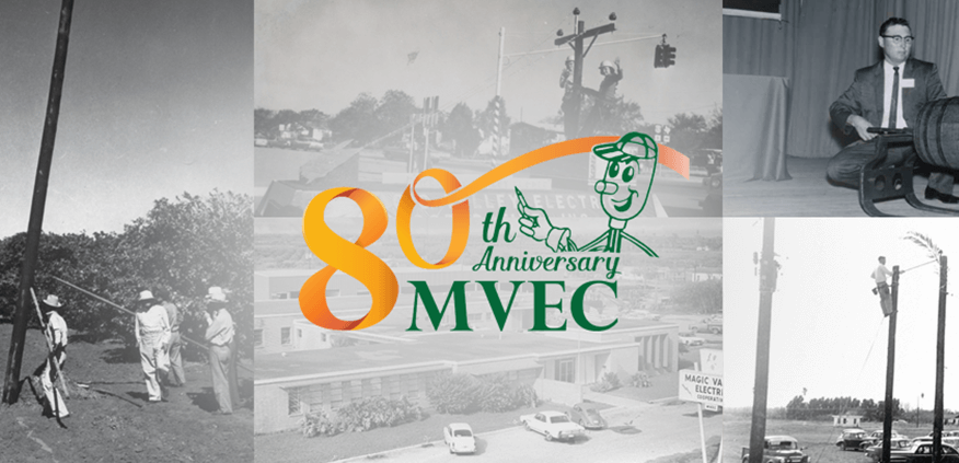 80th anniversary collage of Magic Valley Electric Cooperation